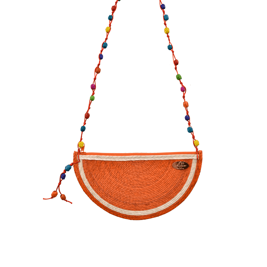 Juicy Orange Straw Crossbody - Josephine Alexander Collective