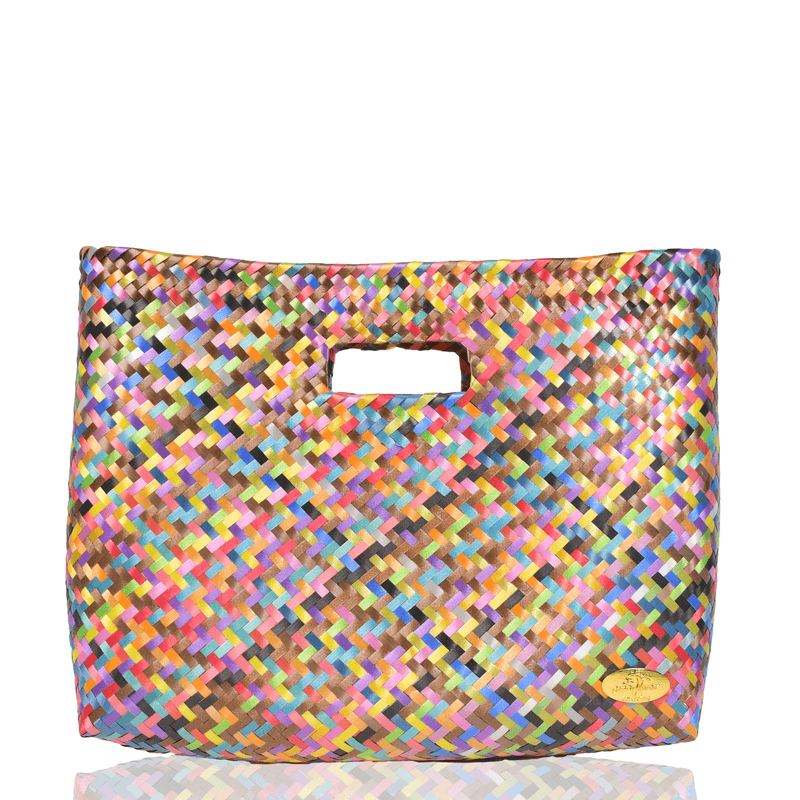 Palma Woven Hand Bag in Gemstone Rainbow - Josephine Alexander Collective