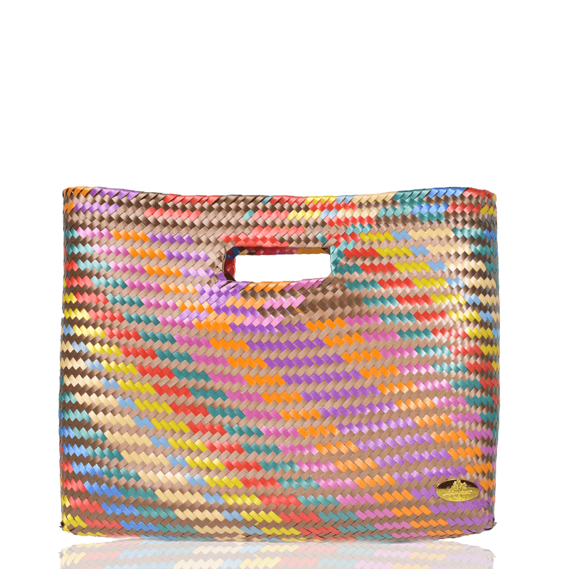 Palma Woven Hand Bag in Copper Rainbow - Josephine Alexander Collective