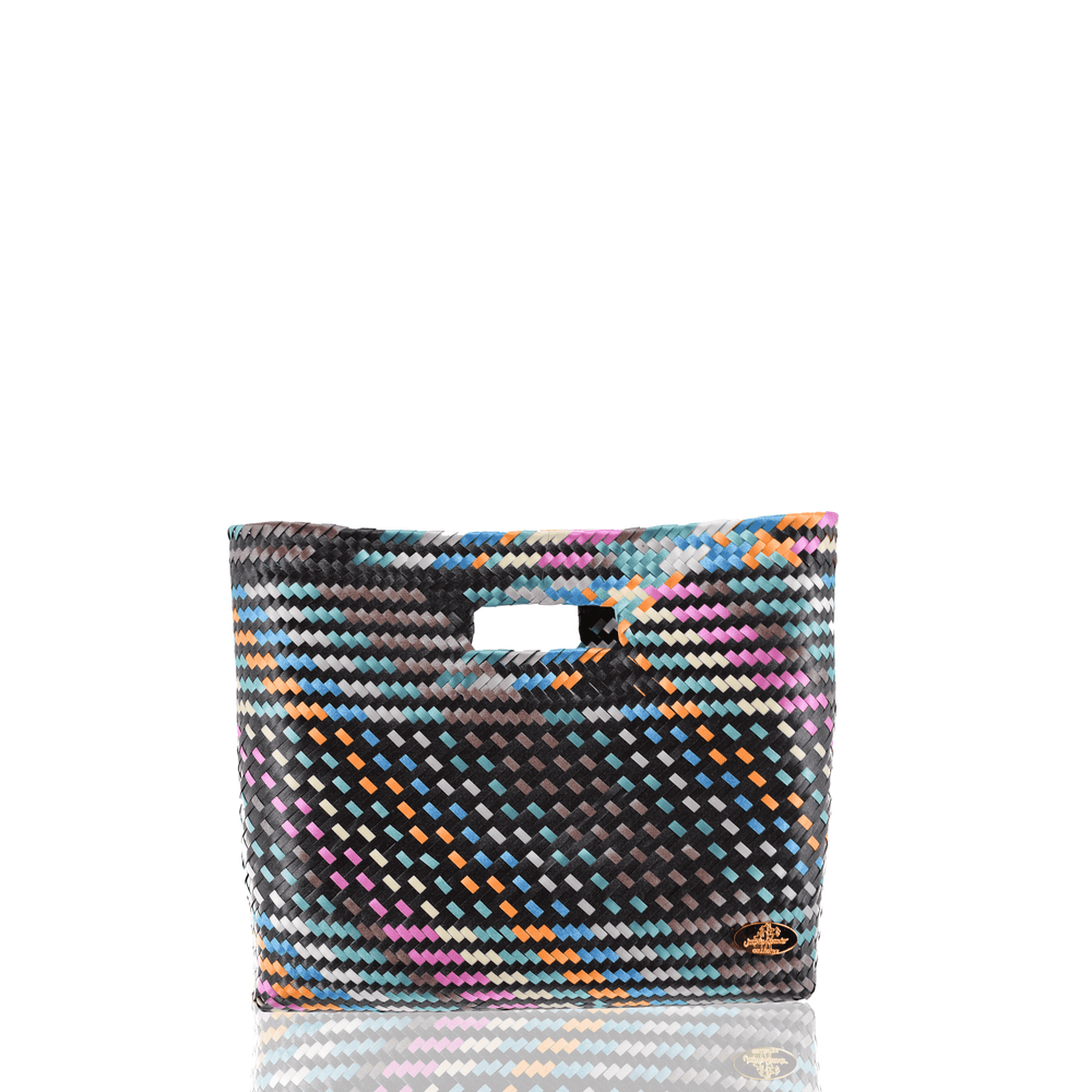 Palma Woven Handbag in Black Rainbow