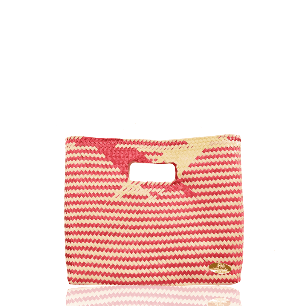 Palma Woven Handbag in Red and Ivory - Josephine Alexander Collective