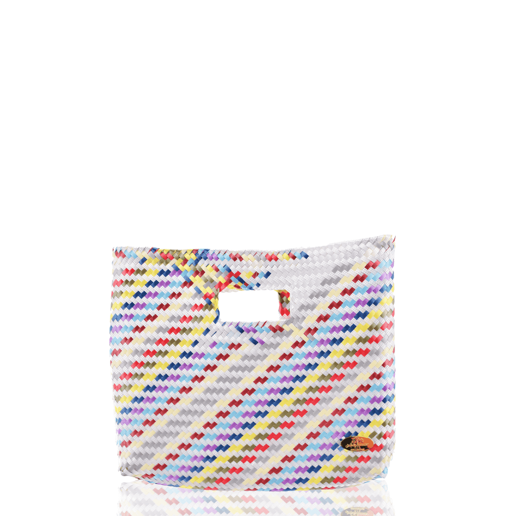 Palma Woven Handbag in White Rainbow - Josephine Alexander Collective