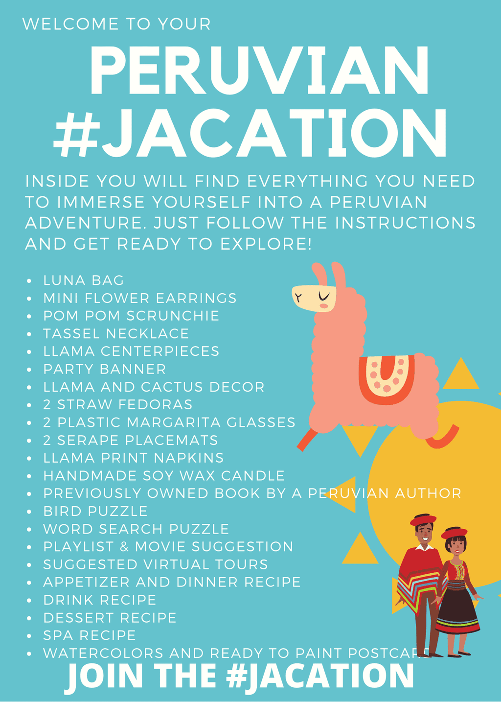 #JACation in a Bag - Peru - Josephine Alexander Collective