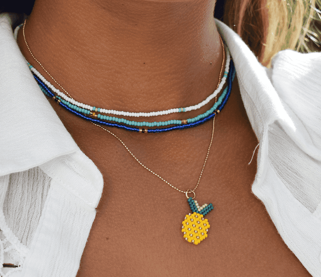Pineapple Crush Necklace Stack - Josephine Alexander Collective
