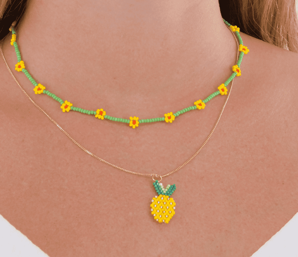 Pineapple Daisy Necklace Stack - Josephine Alexander Collective