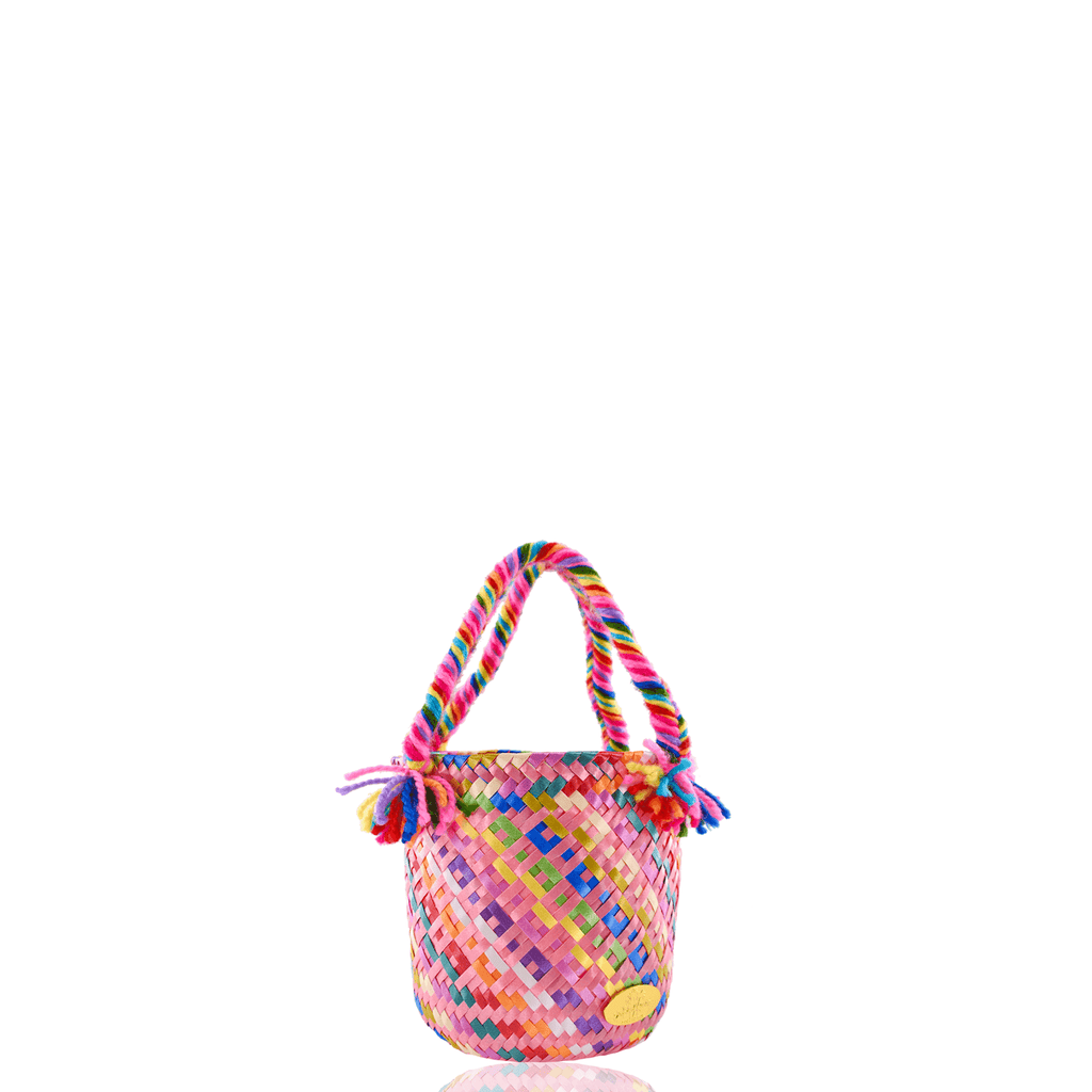 Mini Rainbow Bucket Bag in Bubble Gum Pink