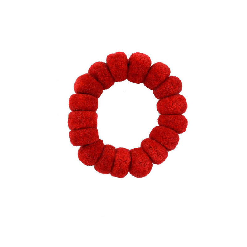Pom Scrunchie in Red - Josephine Alexander Collective