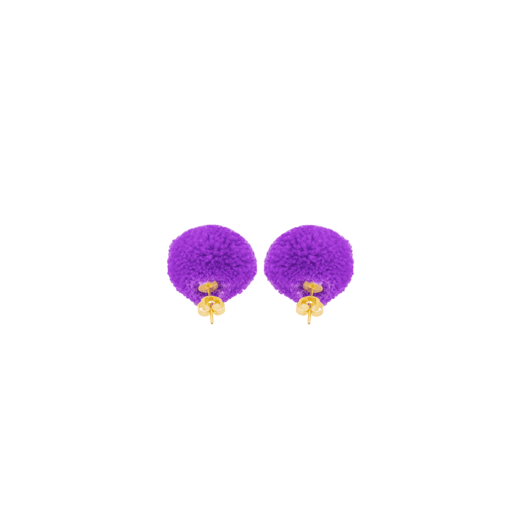 Pom Dot Studs in Ultra Violet