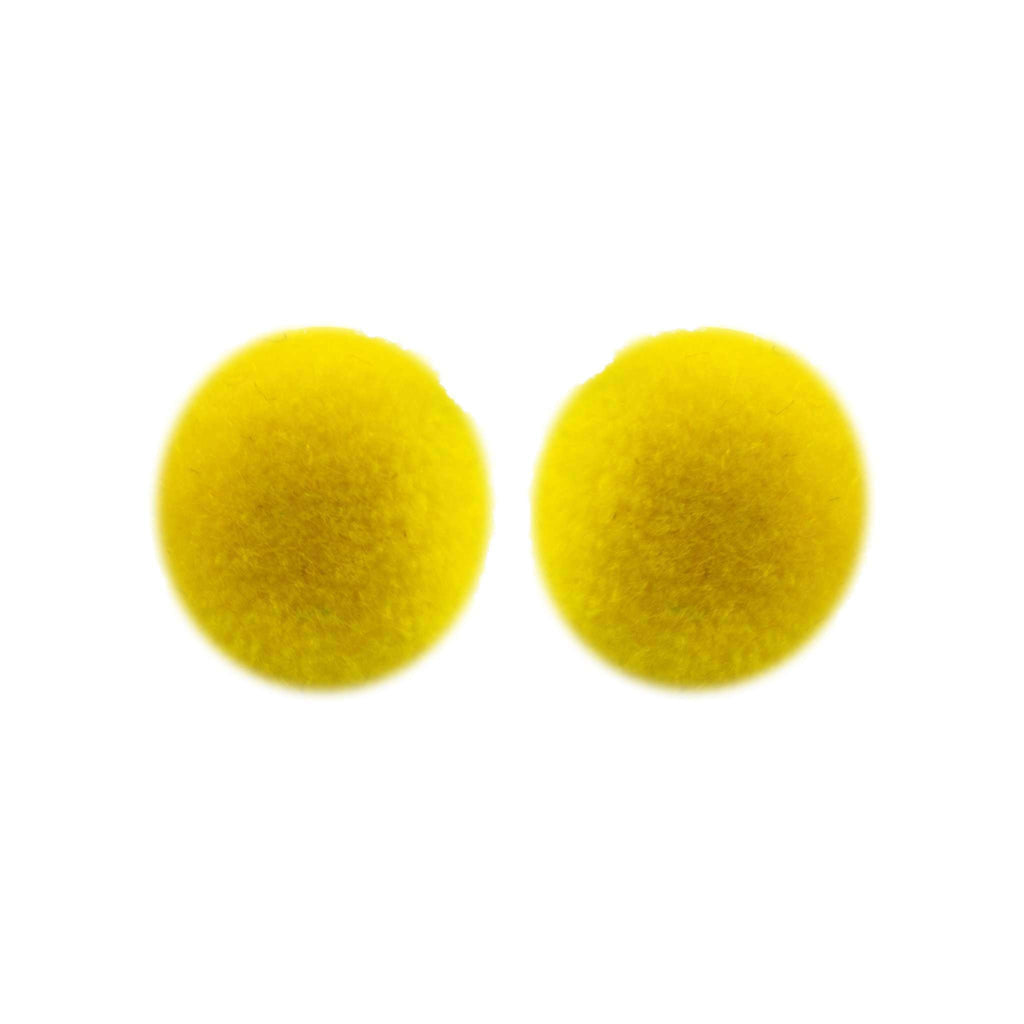 Pom Dot Studs in Buttercup