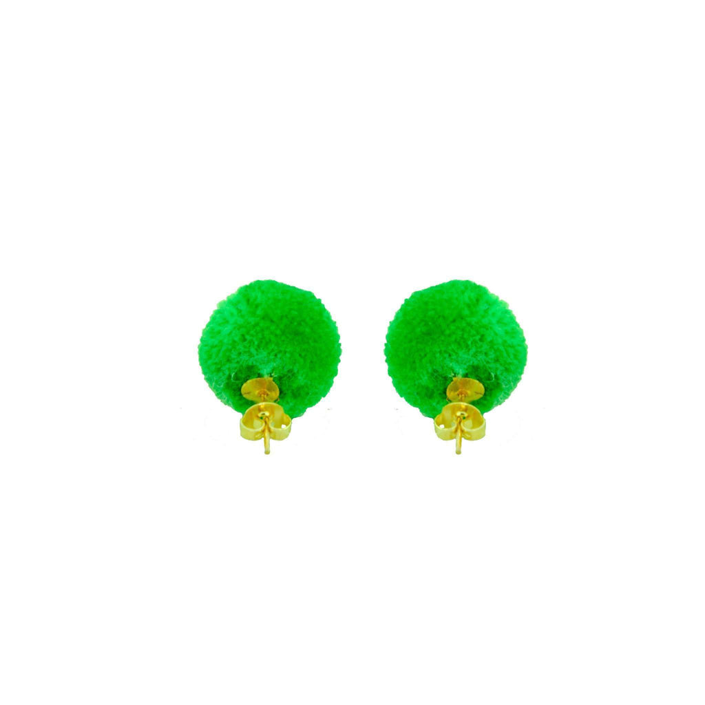 Pom Dot Studs in Kelly Green