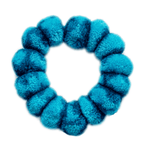 Pom Scrunchie in Blue Hawaiian