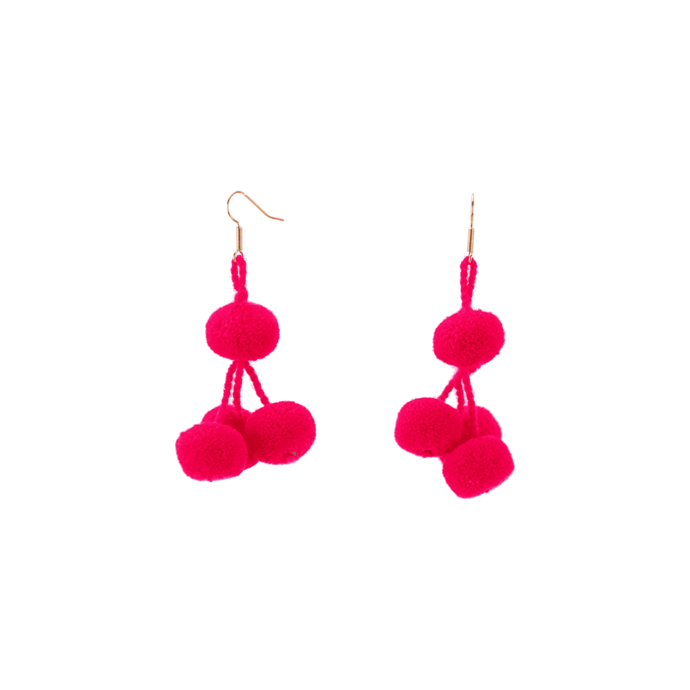 Pomponera Earrings in Pink Lip Gloss