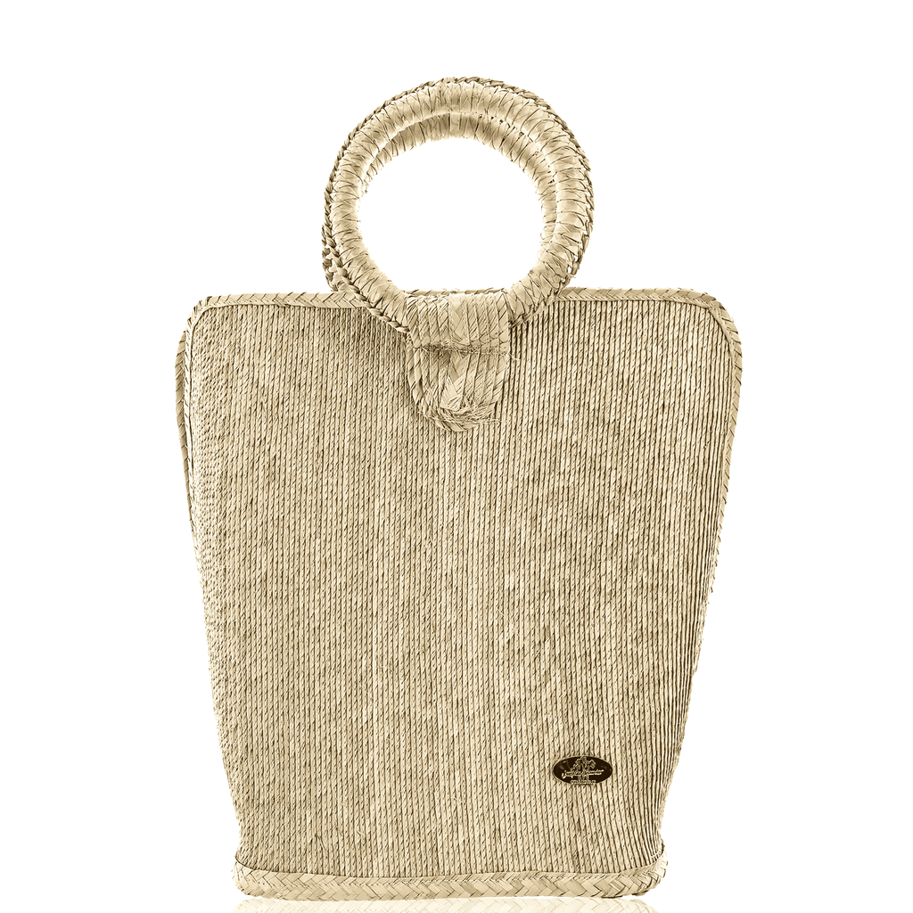 Quina Straw Bucket Bag in Natural Large