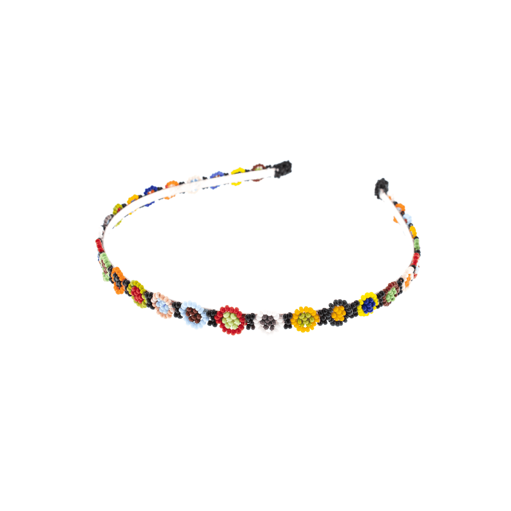 Rainbow Daisy Beaded Headband - Josephine Alexander Collective