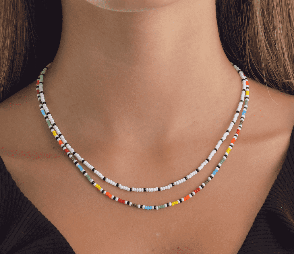 Rainbow Waves Necklace Stack - Josephine Alexander Collective