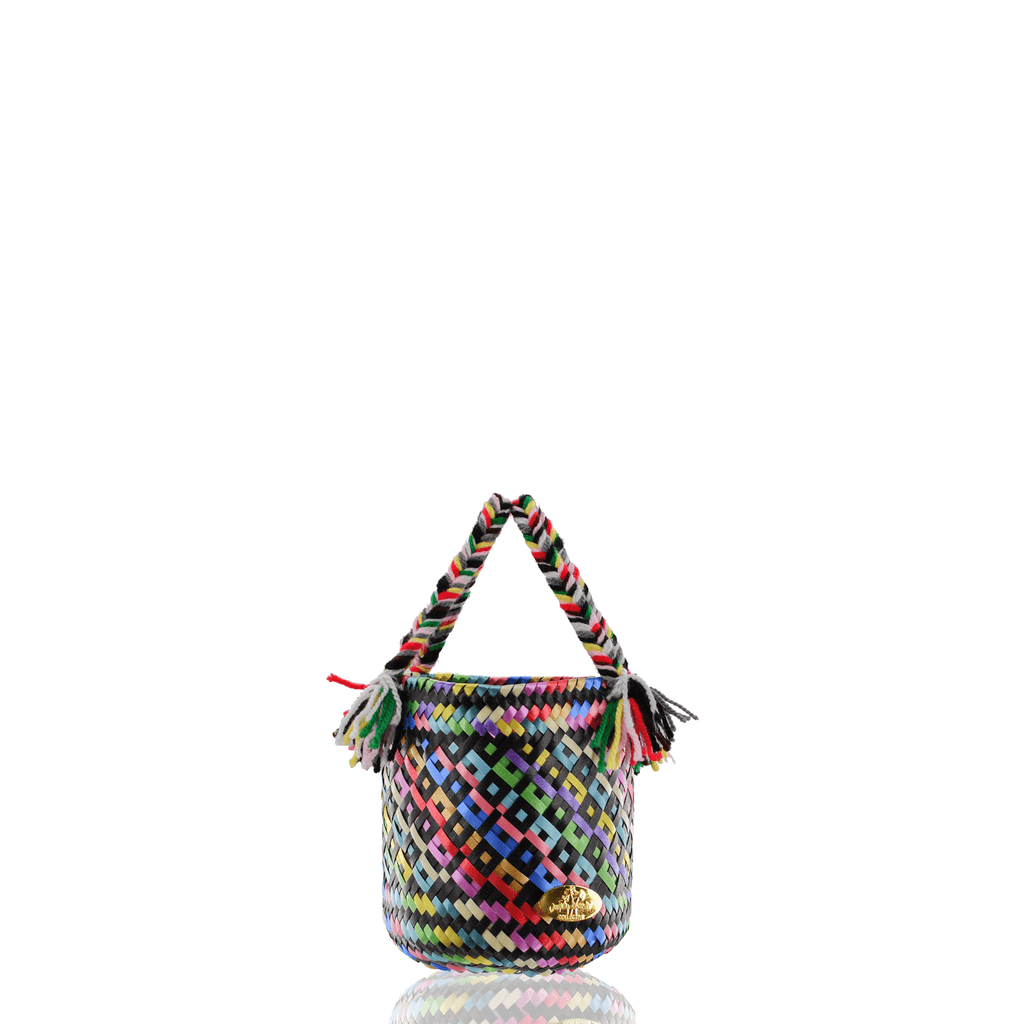 Mini Rainbow Bucket Bag in Black