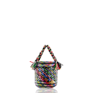 Rainbow Bucket Bag in Black