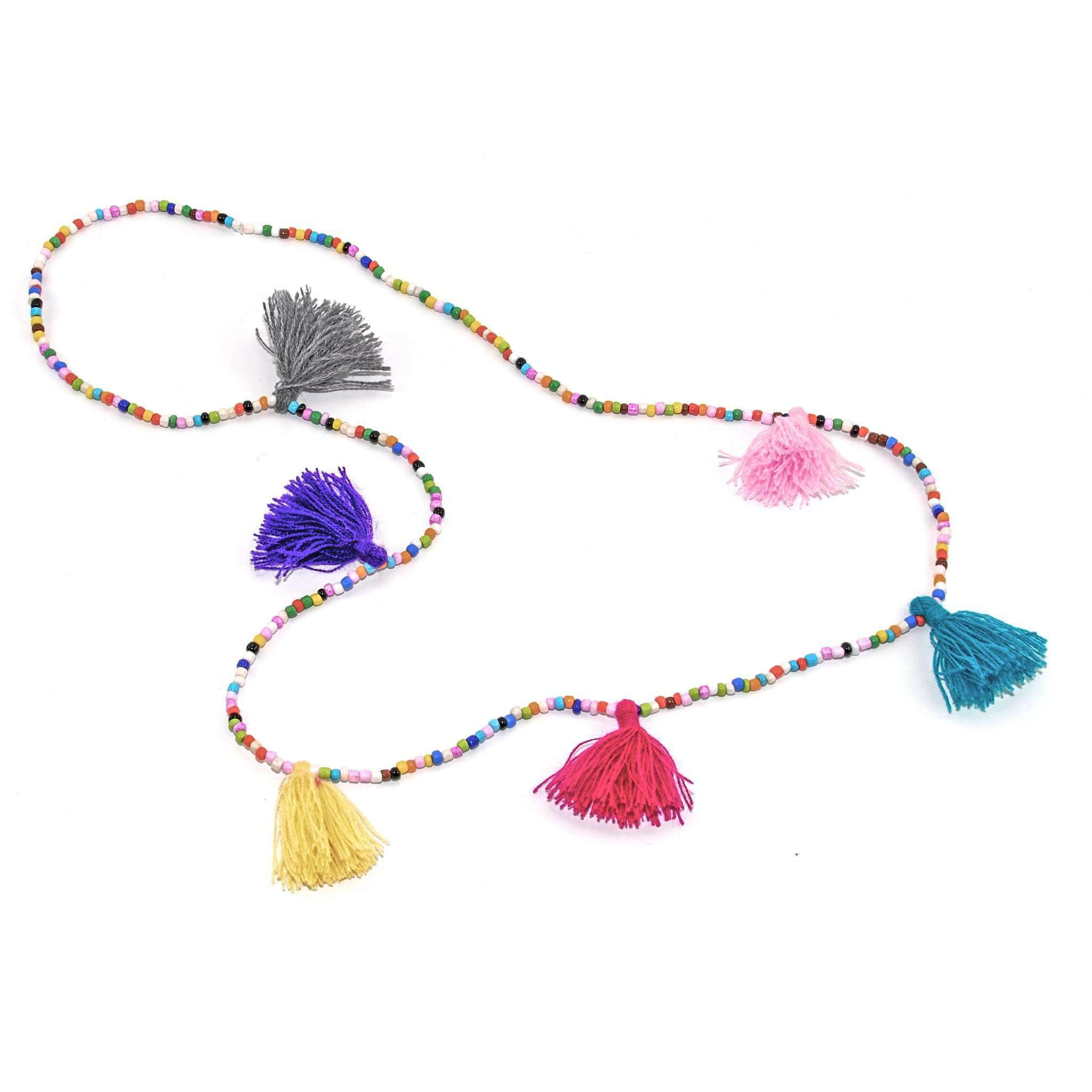 Click to shop all - Rainbow Tassel Necklaces