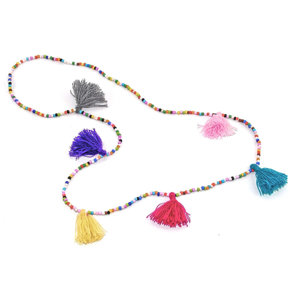 Rainbow Tassel Necklace - Josephine Alexander Collective