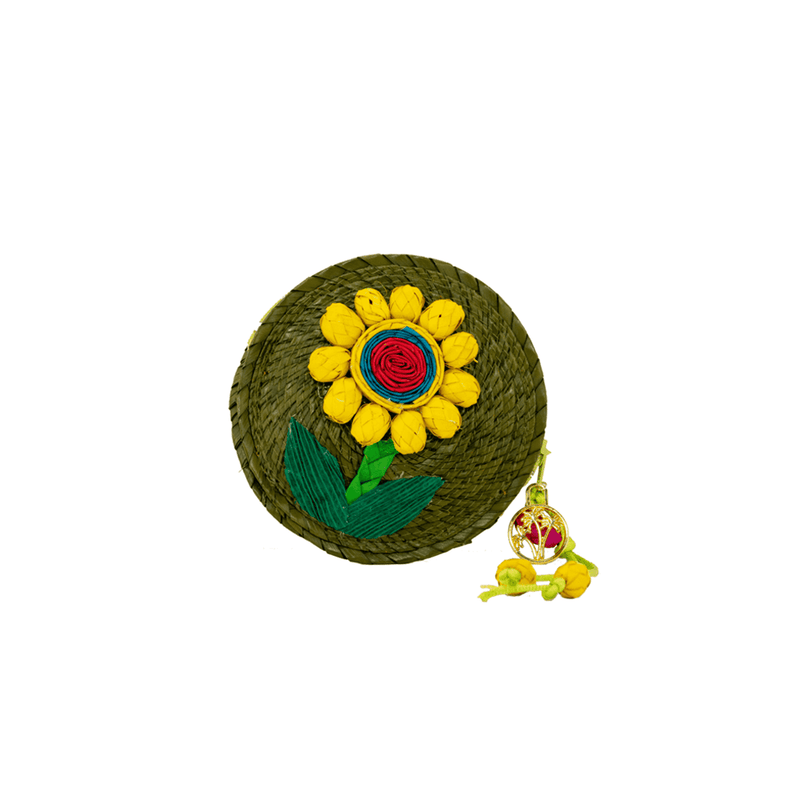 Roxy Coin Purse in Olive Sunflower - Josephine Alexander Collective
