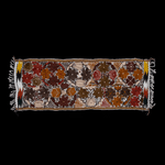 Embroidered Table Runner in Fall Hues- White with Autumn Flowers #4 - Josephine Alexander Collective