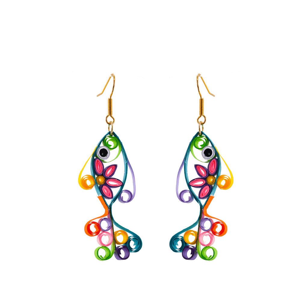 Sandy the Fish Earrings - Josephine Alexander Collective