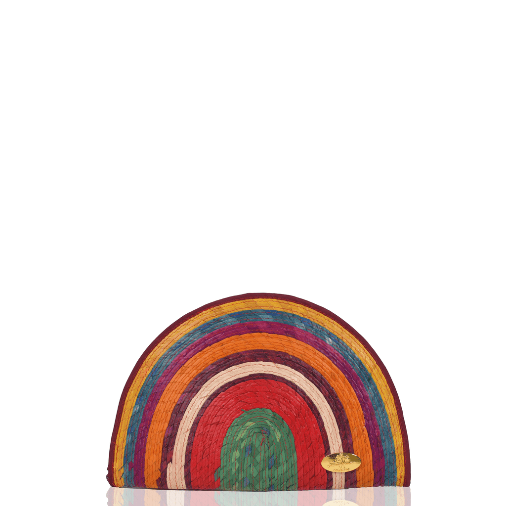 Sevillana Rainbow Straw Clutch # 10 - Josephine Alexander Collective
