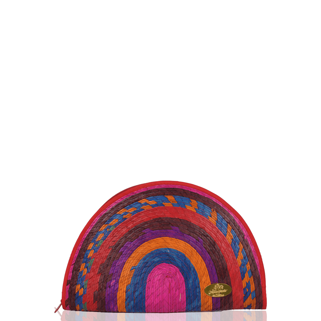 Sevillana Rainbow Straw Clutch # 11 - Josephine Alexander Collective