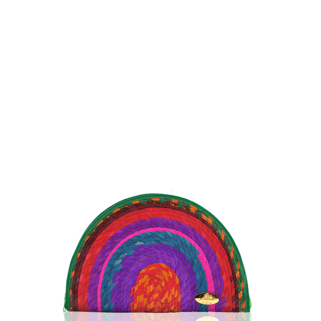 Sevillana Rainbow Straw Clutch # 7 - Josephine Alexander Collective