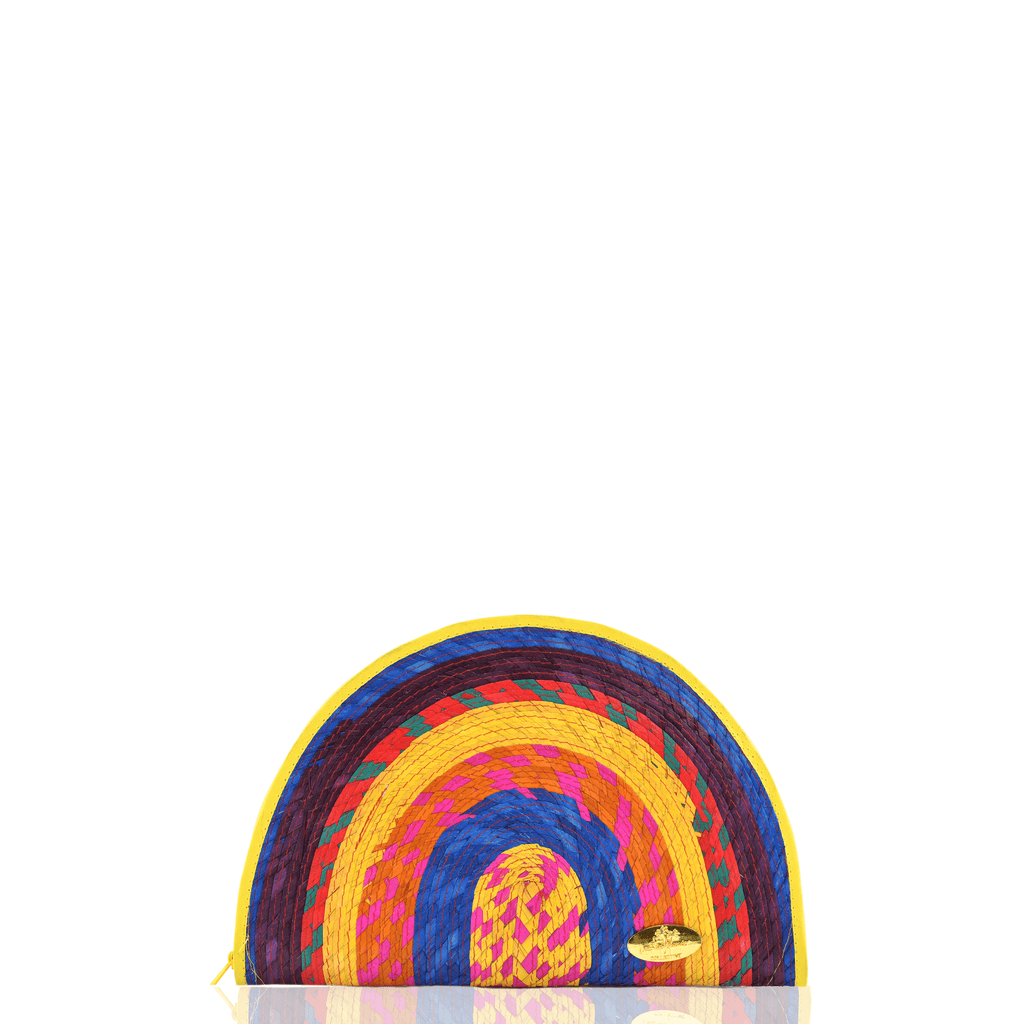 Sevillana Rainbow Straw Clutch # 2 - Josephine Alexander Collective