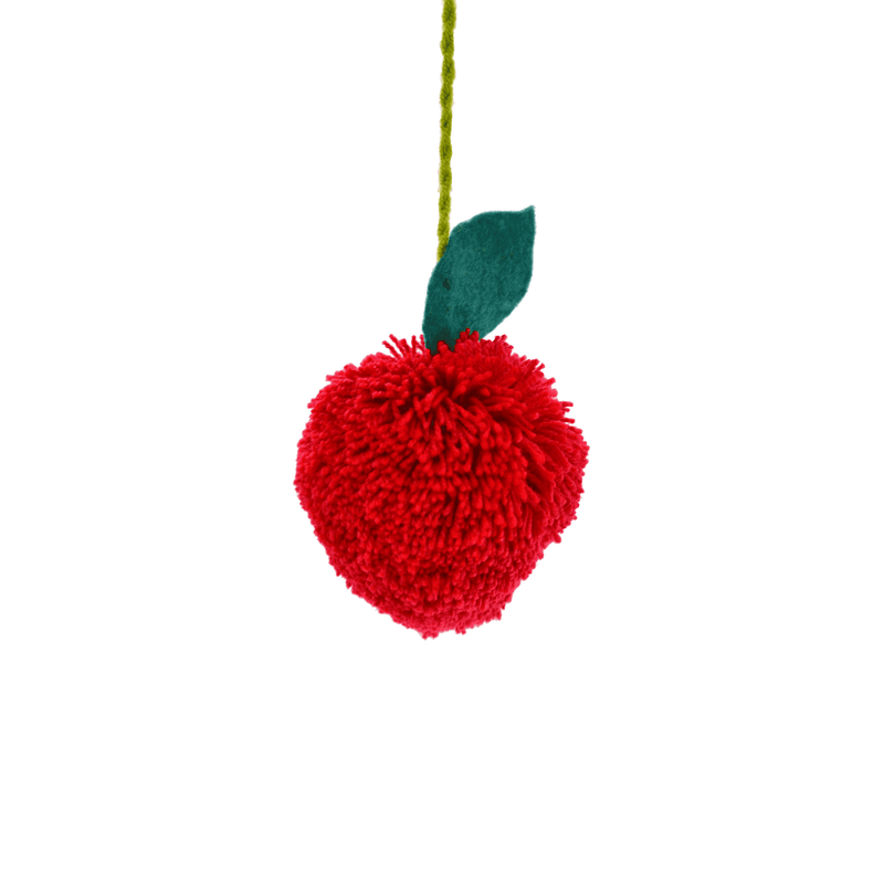 Fruit Poms- Red Apple Pom - Josephine Alexander Collective