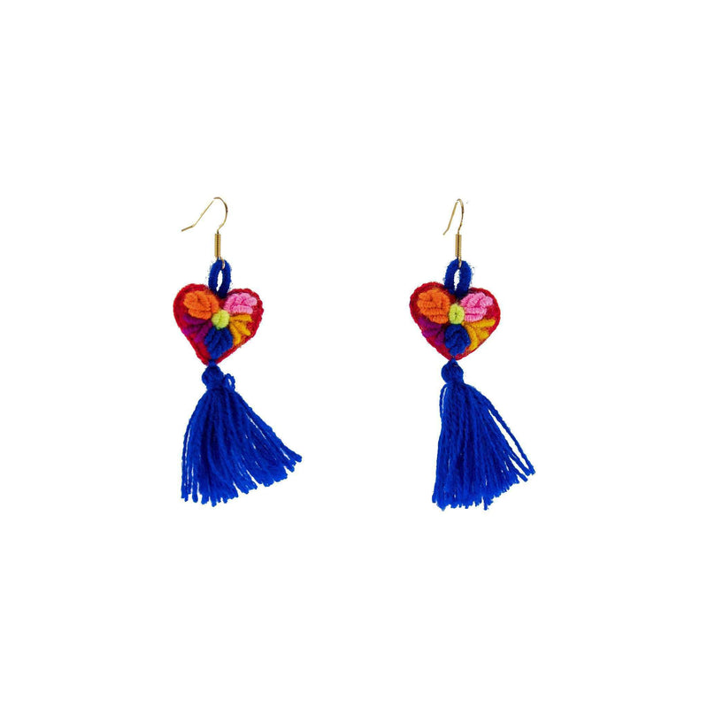 The Love-ly Earrings in Blue- Small - Josephine Alexander Collective