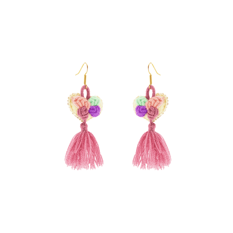 The Love-ly Earrings in Dusty Rose- Small - Josephine Alexander Collective