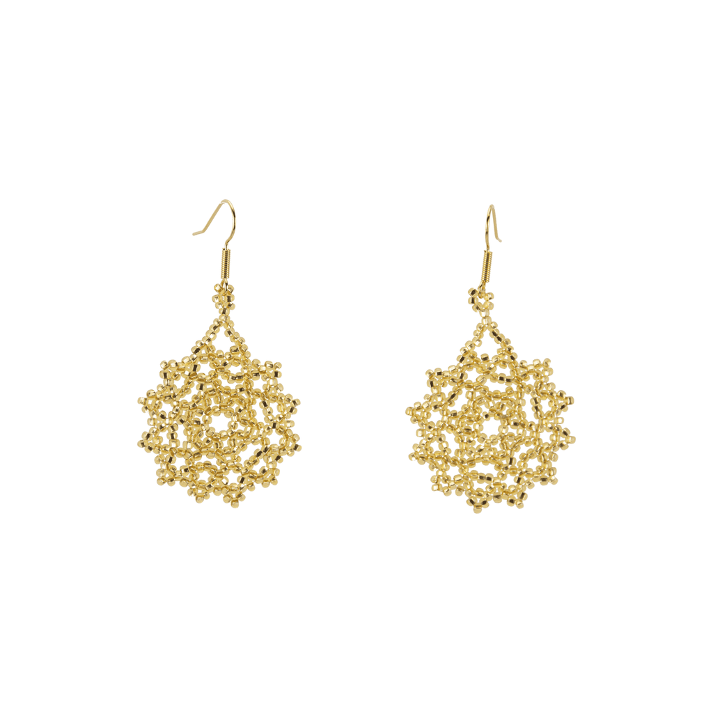 Snowflake Earrings in Gold