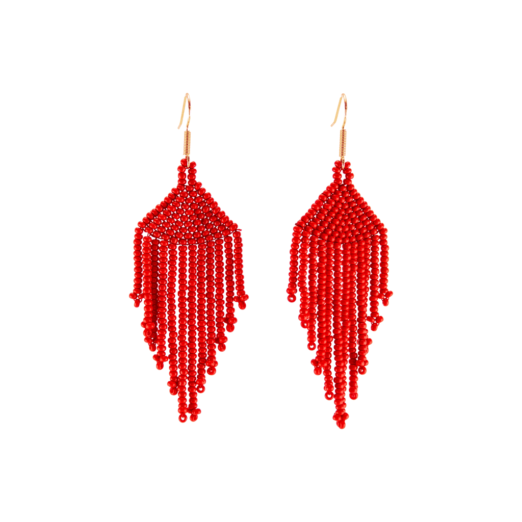 Solid Fiesta Earrings in Red