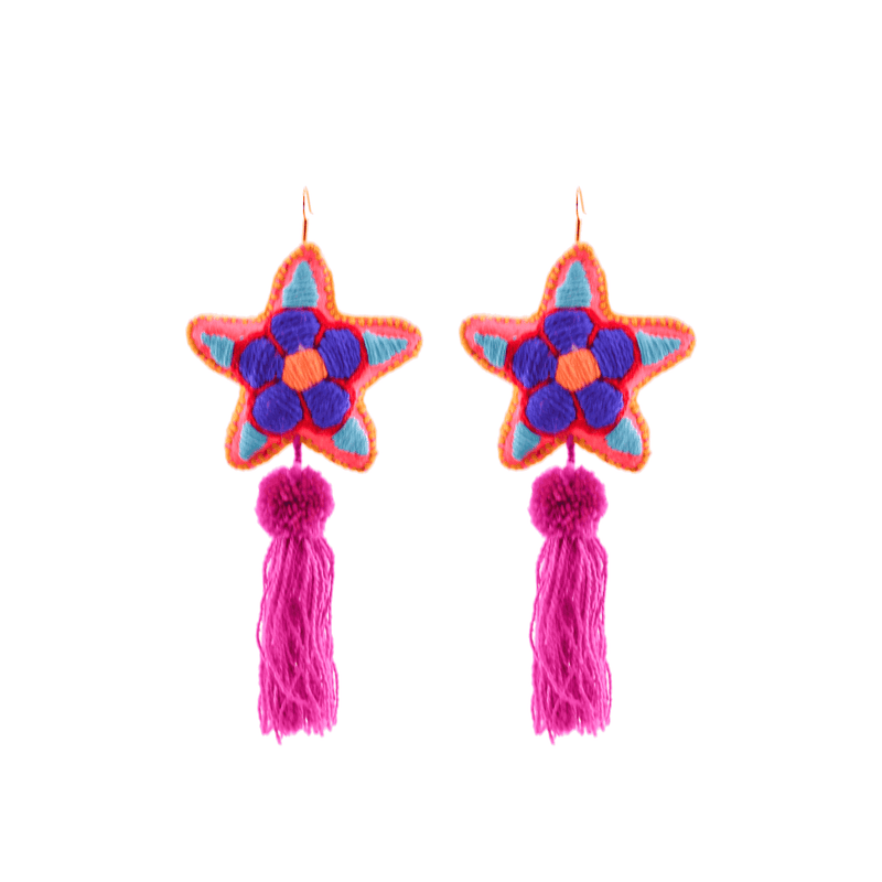 Star Tassel Earrings # 10