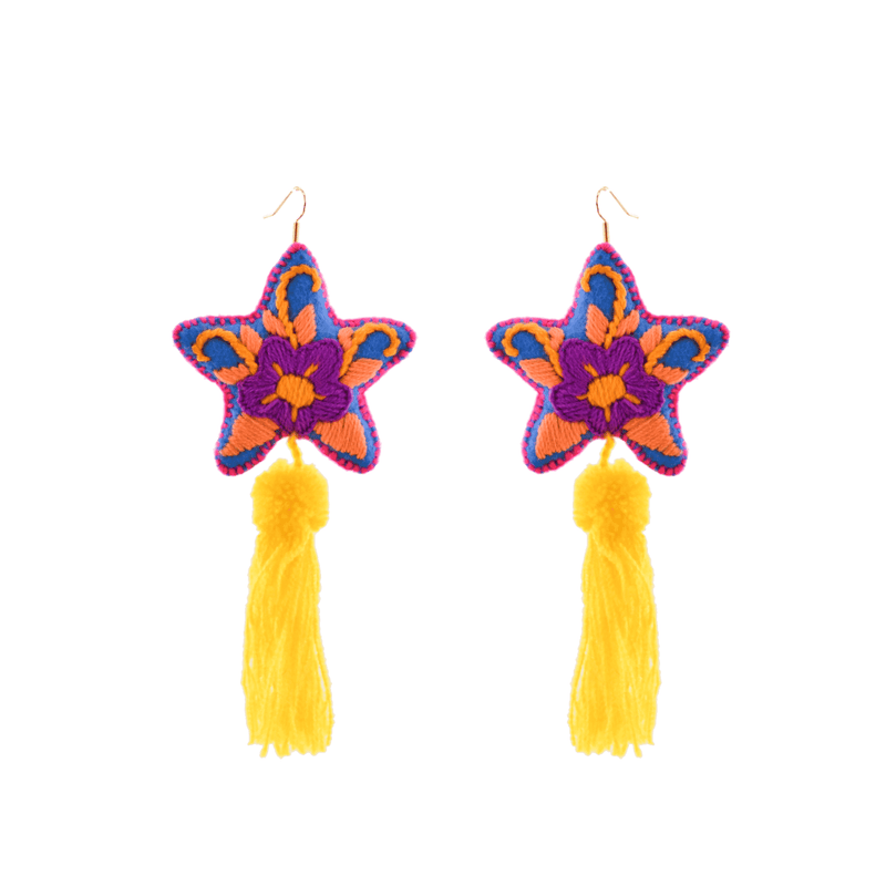 Star Tassel Earrings # 12 - Josephine Alexander Collective