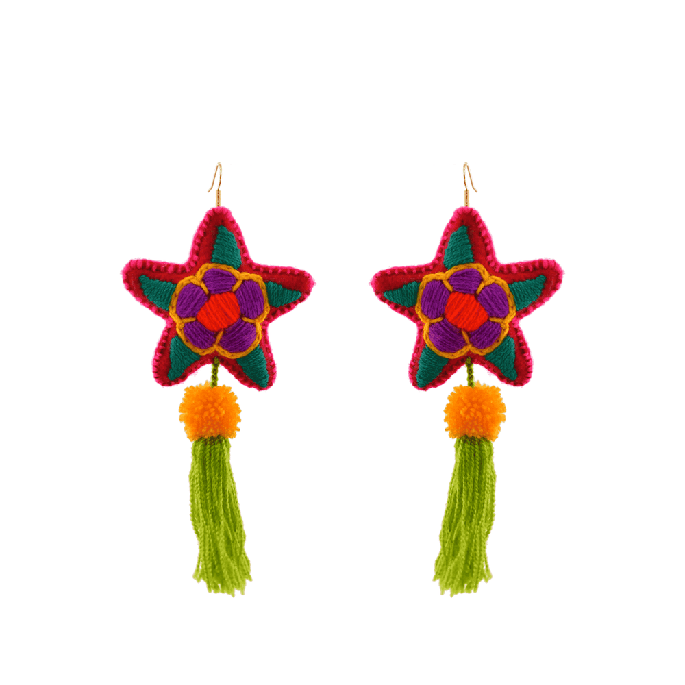 Star Tassel Earrings # 1