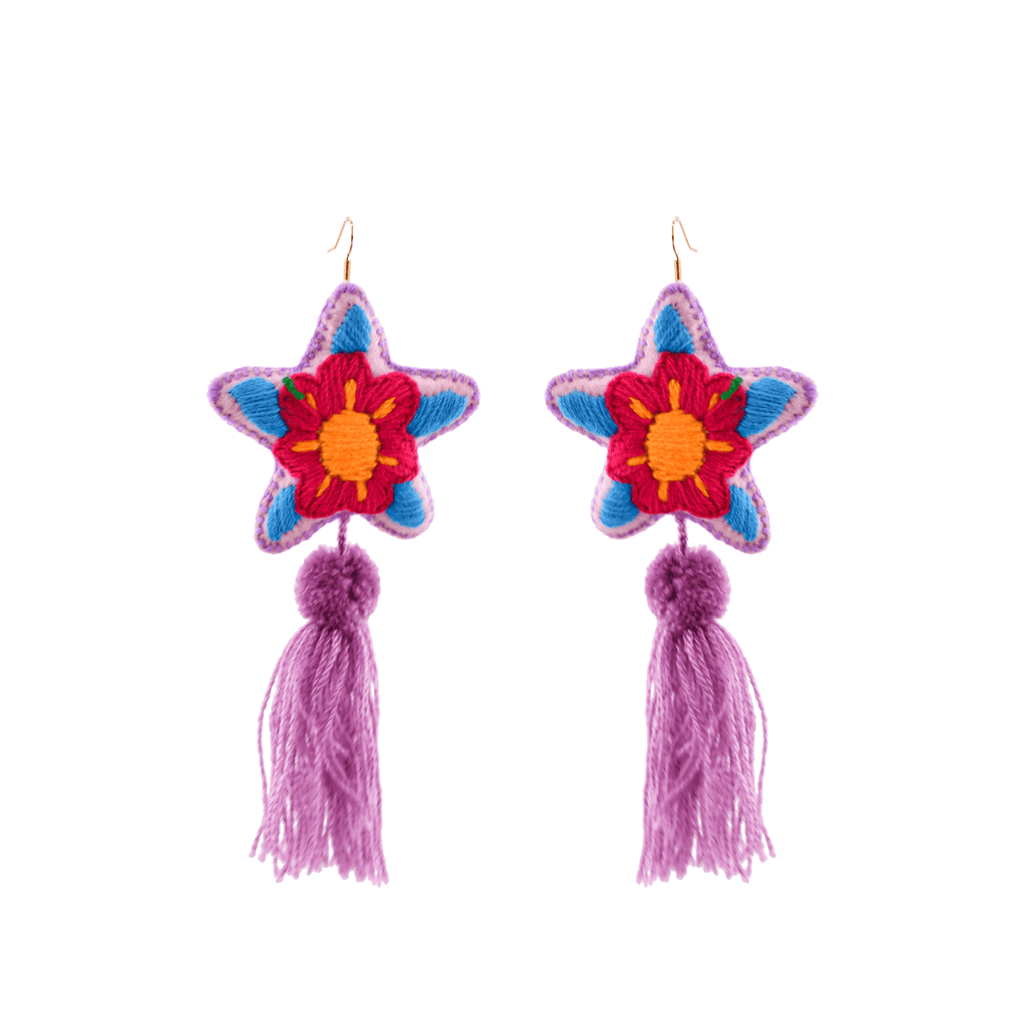 Star Tassel Earrings # 6 - Josephine Alexander Collective