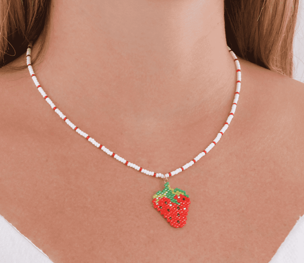 Strawberry Shortcake Necklace - Josephine Alexander Collective