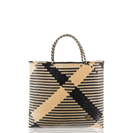 The Carry All Beach Bag in Black Check