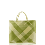 The Carry All Beach Bag in Green Check