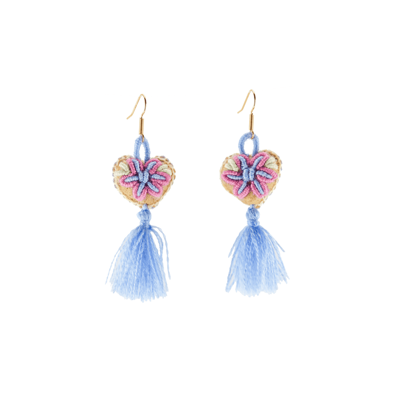 The Love-ly Earrings in Be My Baby Blue- Small - Josephine Alexander Collective