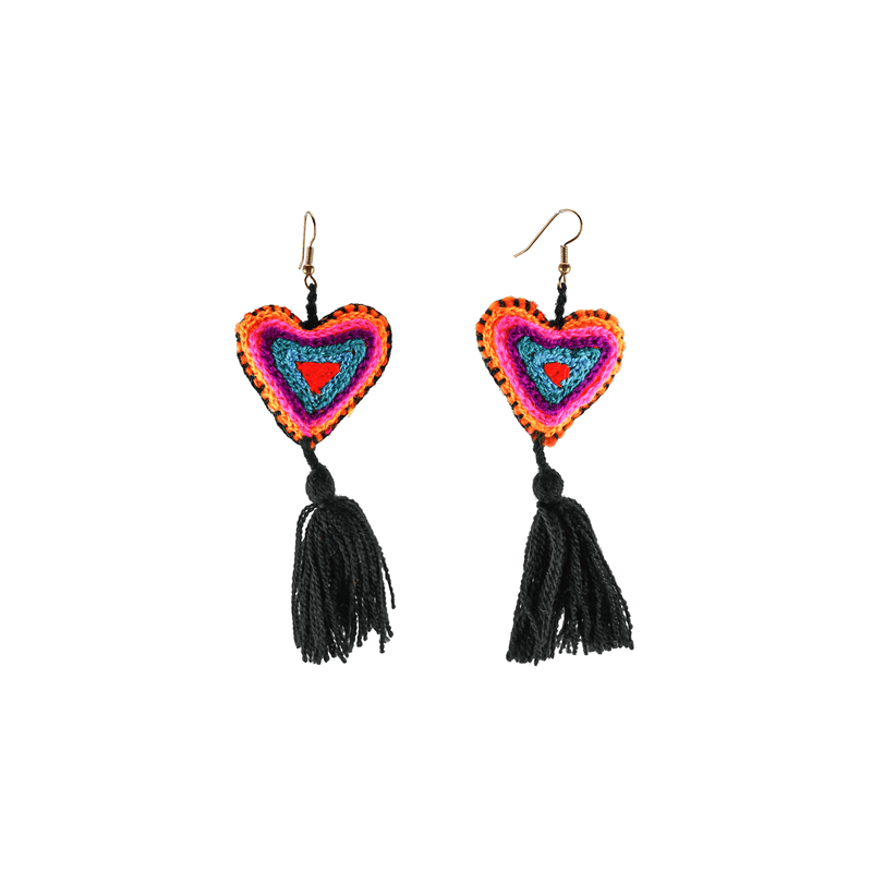 The Love-ly Earrings in Black Teal - Large