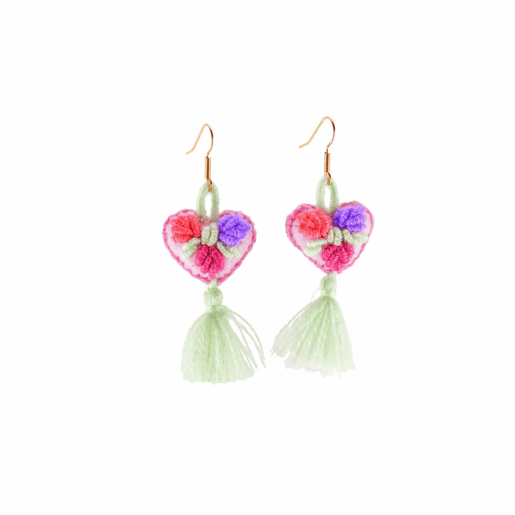 The Love-ly Earrings in Minty Fresh- Small - Josephine Alexander Collective