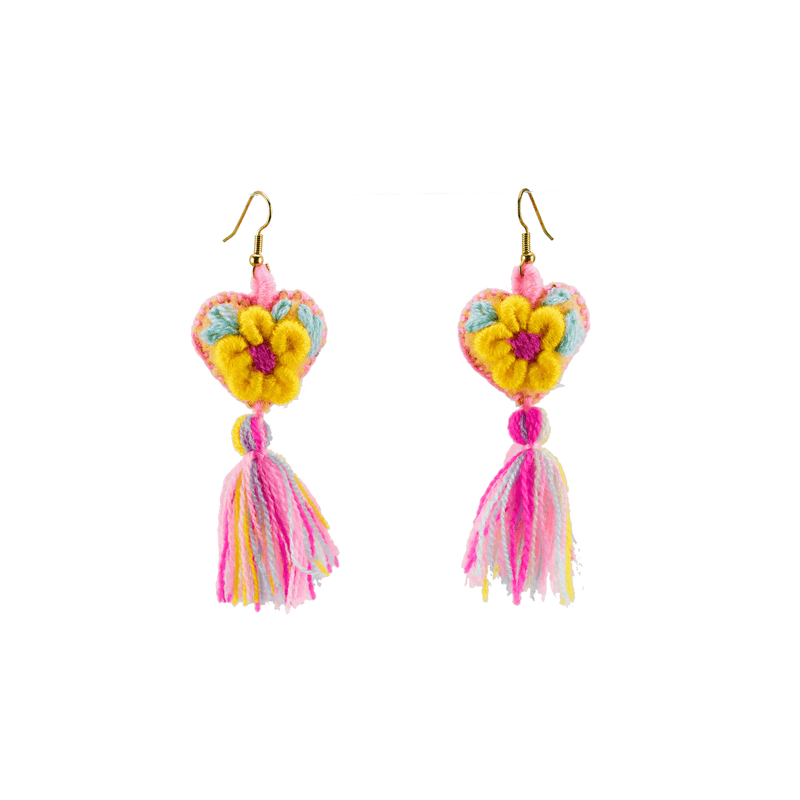 The Love-ly Earrings in My Yellow Daisy- Medium