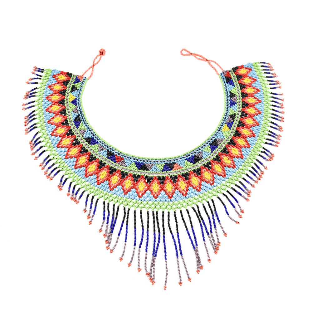 The Rainbow Collar Beaded Necklace #3