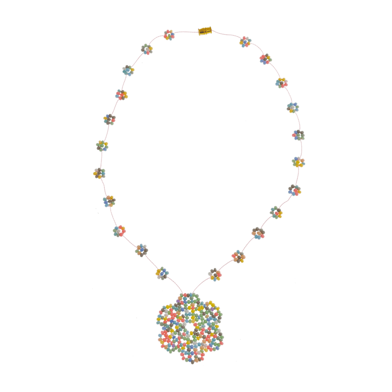 The Wild Daisy Chain Necklace Ice Cream - Josephine Alexander Collective