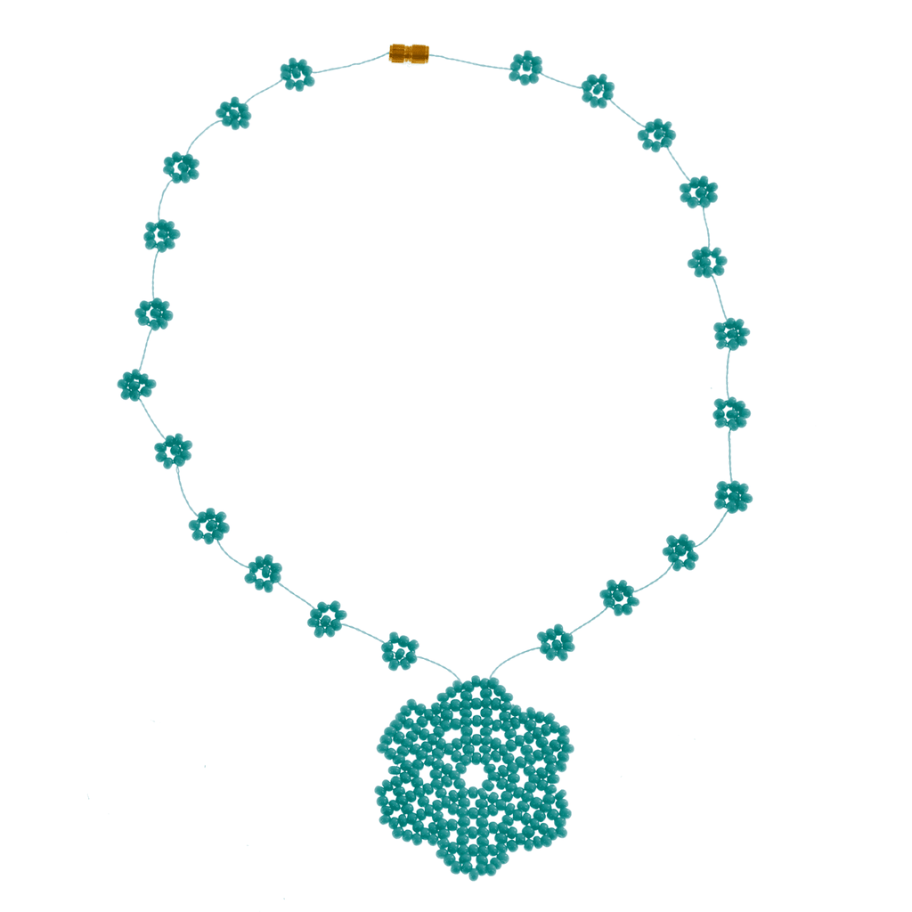 The Wild Daisy Chain Necklace in Turquoise - Josephine Alexander Collective