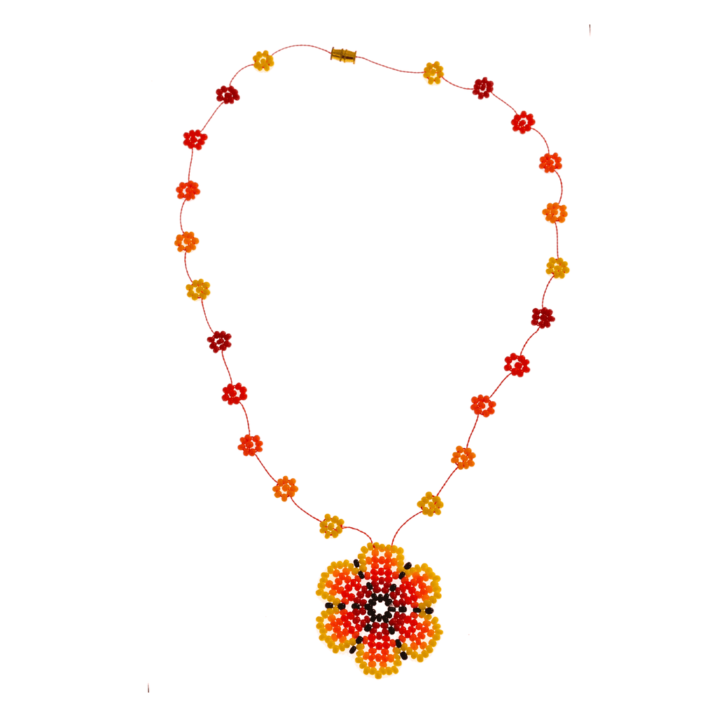 The Wild Daisy Chain Necklace in Yellow - Josephine Alexander Collective